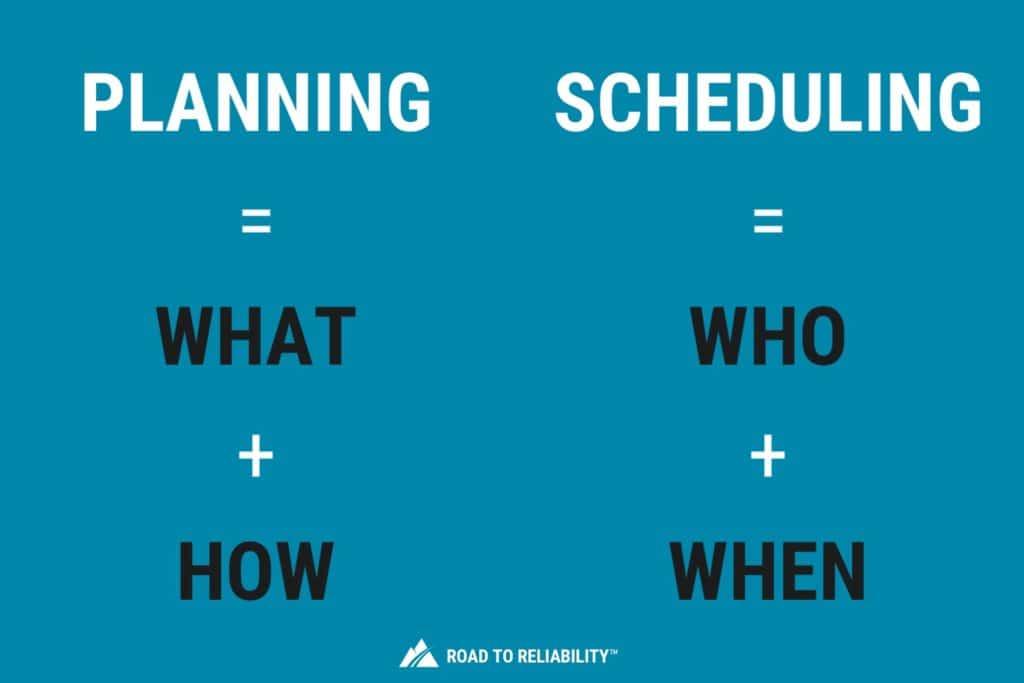 maintenance planning vs scheduling