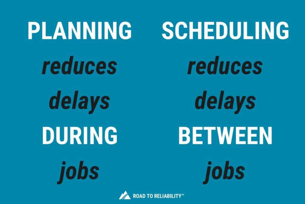 maintenance planning vs maintenance scheduling