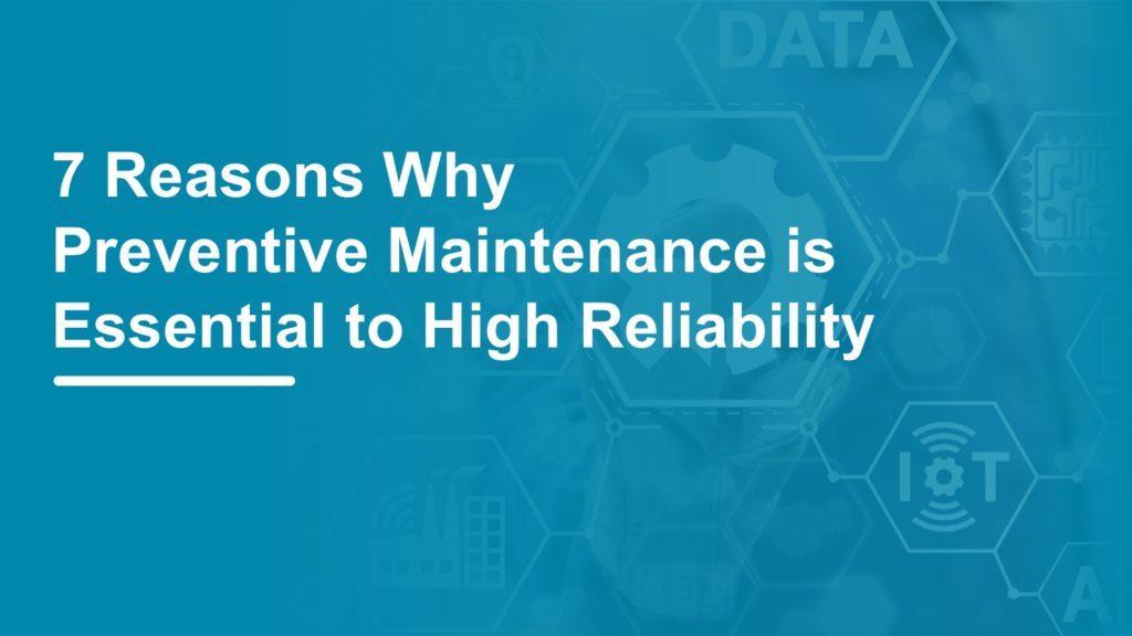 preventive maintenance procedures data