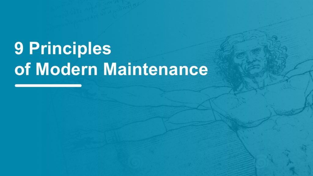 principles of modern preventive maintenance plans