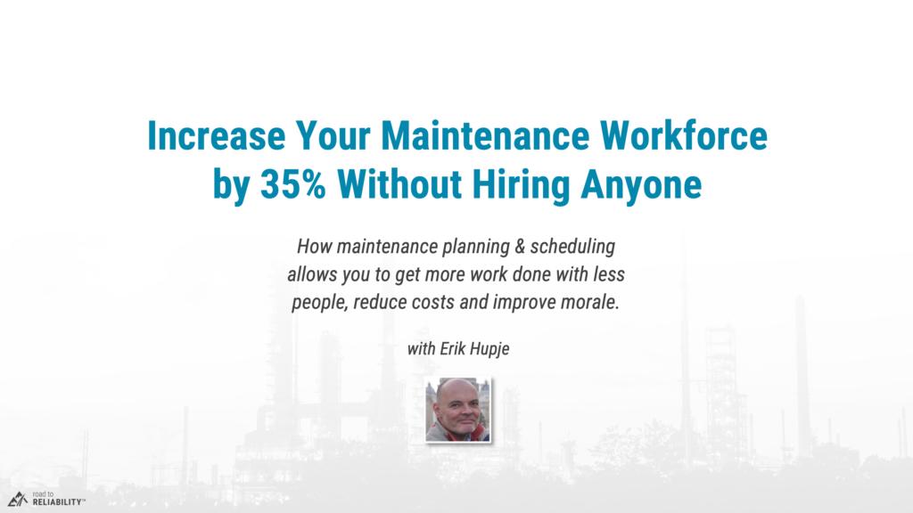 maintenance planning scheduling webinar
