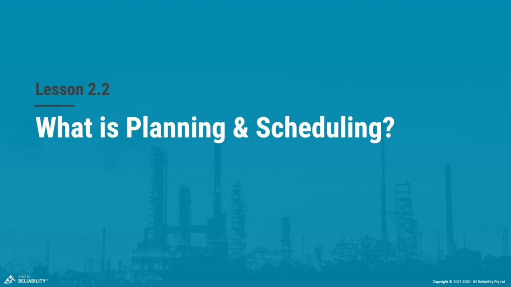 What is planning and scheduling?