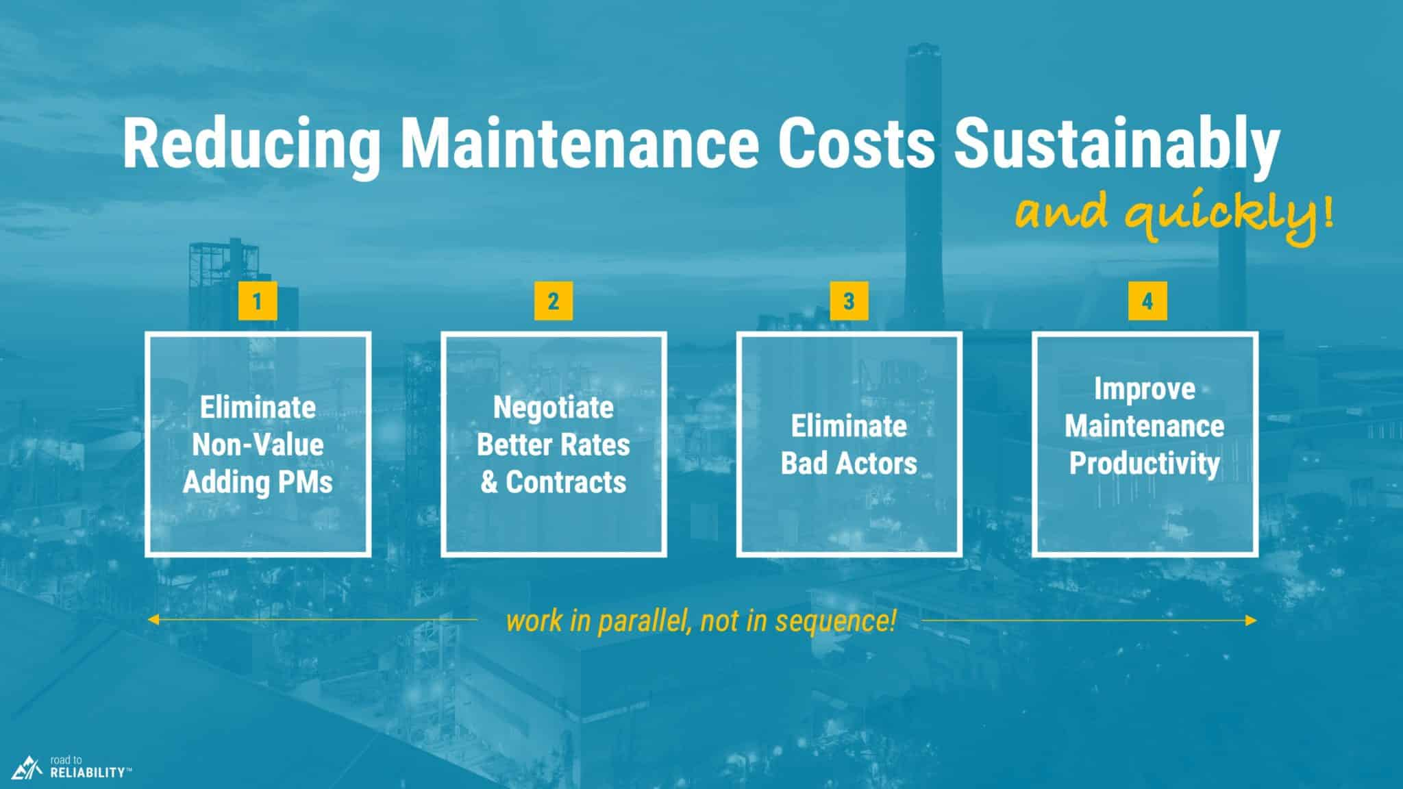 4 steps for reducing maintenance costs quickly