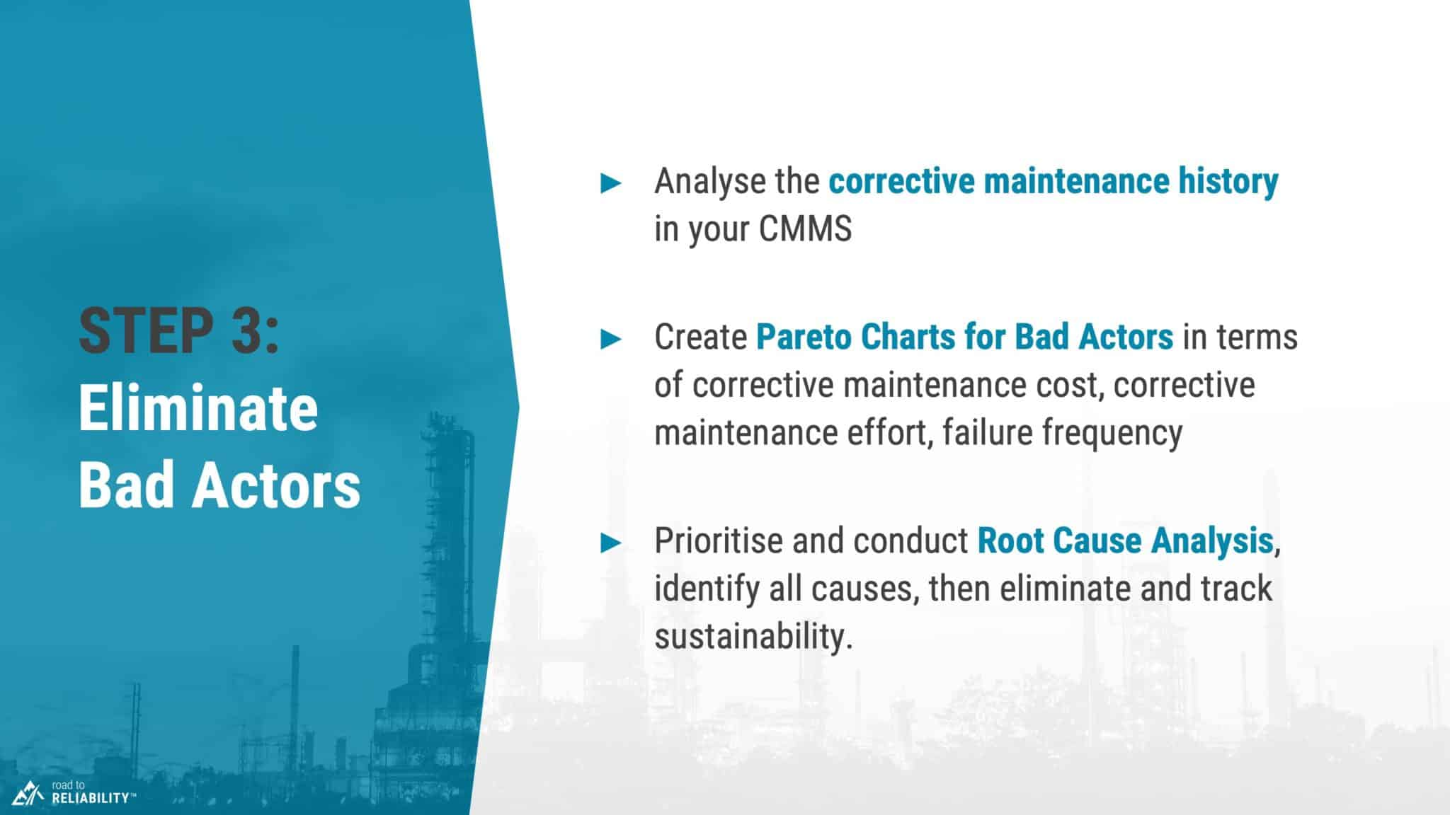 reduce maintenance costs step 3 eliminate repeat failures
