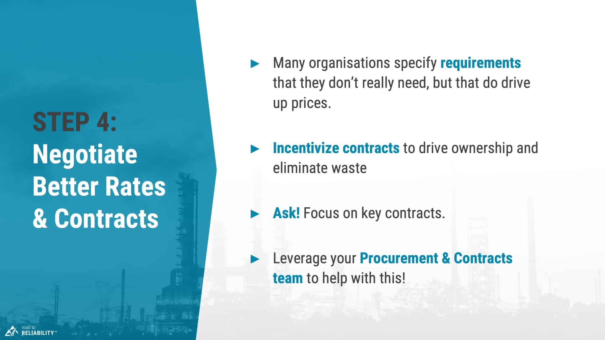reduce maintenance costs step 4 improve maintenance contracts