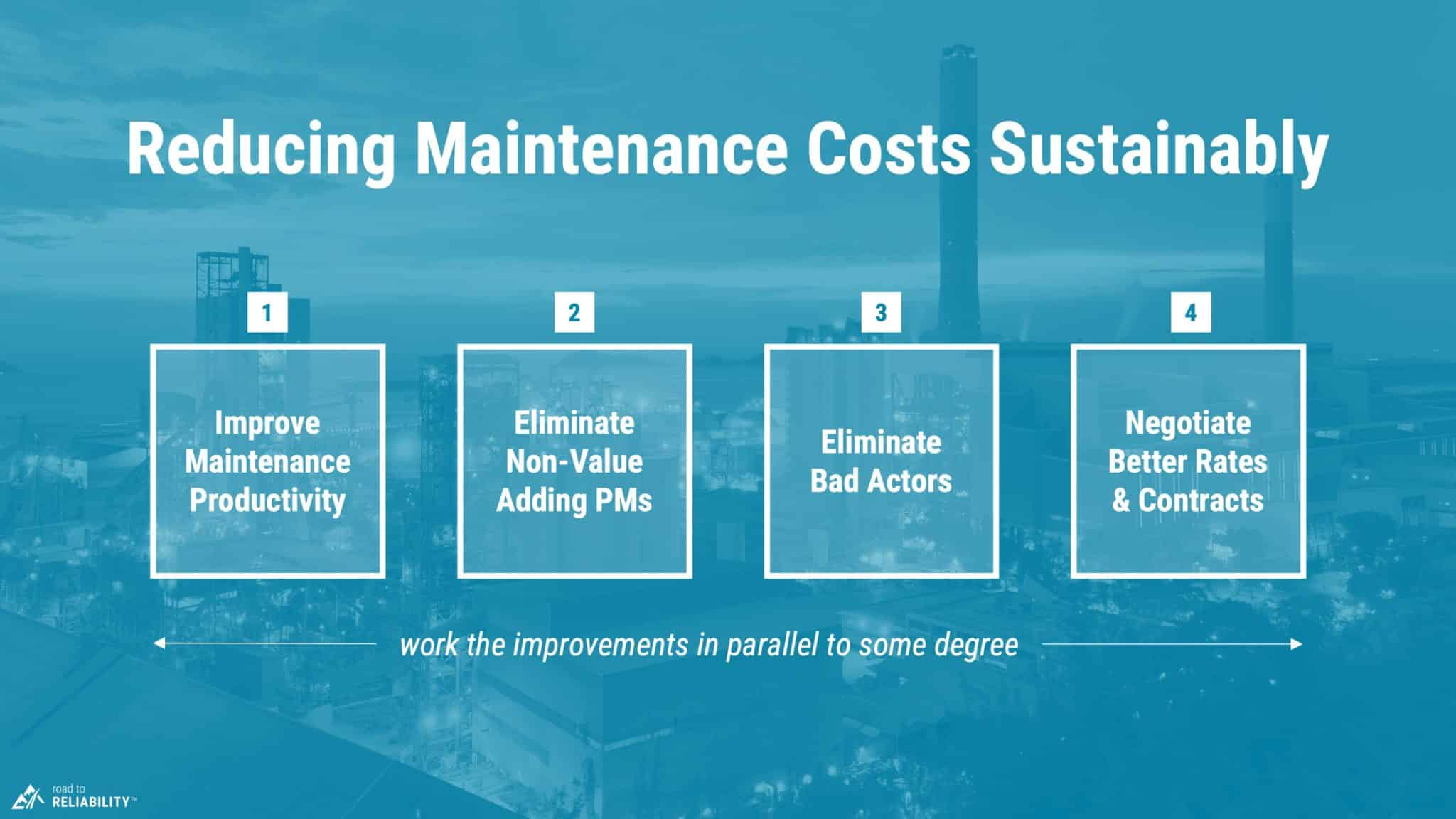 4 steps for reducing maintenance costs